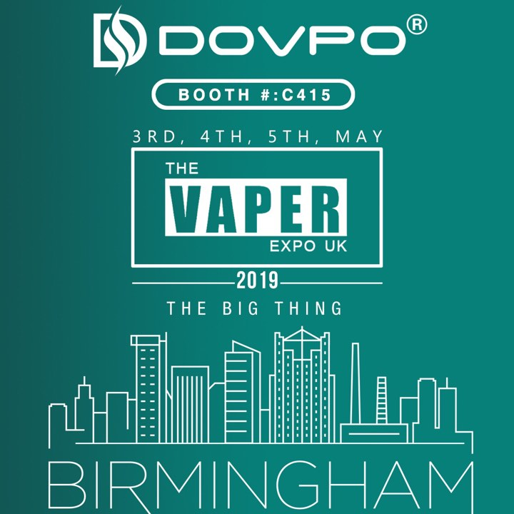 The Vaper EXPO UK 2019 Invitation from Dovpo